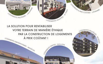 La solution pour rentabiliser votre terrain de manière éthique par la construction de logements à prix coûtants !