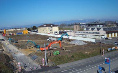 Les Peupliers, Lausanne – Ouverture du chantier aux Plaines-du-Loup